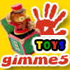 Gimme5 - toys - Compare 2 images based on various toys and find 5 differences.You are given one minute per imagepair and 5 jokers per game.